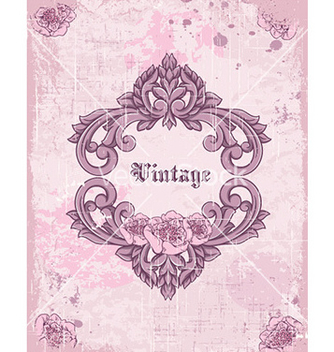 Free vintage frame with floral vector - Kostenloses vector #226049