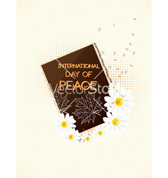 Free international day of peace with photo frame vector - Free vector #226229