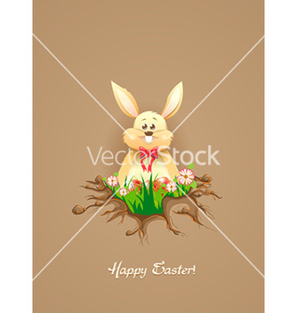 Free bunny with floral vector - Kostenloses vector #226349