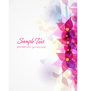 Free colorful abstract floral vector - Free vector #226389