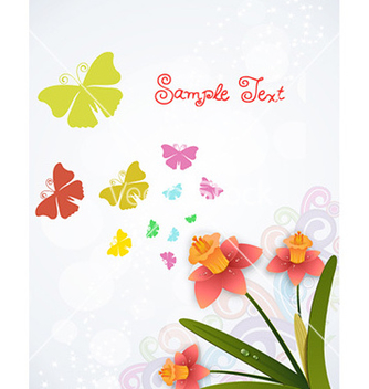 Free spring background with floral vector - Free vector #226939