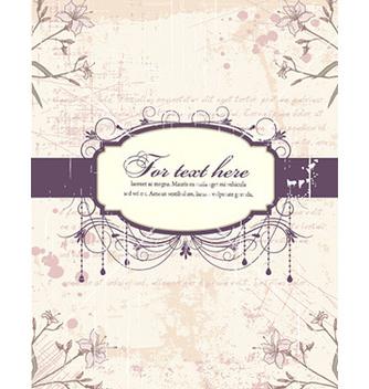 Free grunge floral frame vector - vector #226969 gratis
