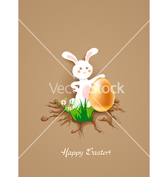 Free bunny with floral vector - Kostenloses vector #226979