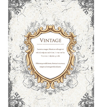 Free vintage floral frame vector - Free vector #227039