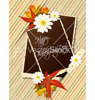 Free happy thanksgiving day with photo frame vector - Free vector #228229
