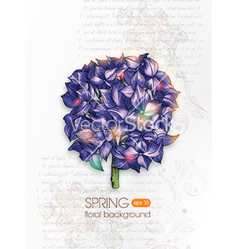 Free floral background vector - Free vector #228509