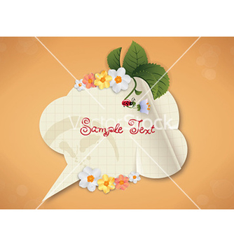 Free spring frame with floral vector - Free vector #229059
