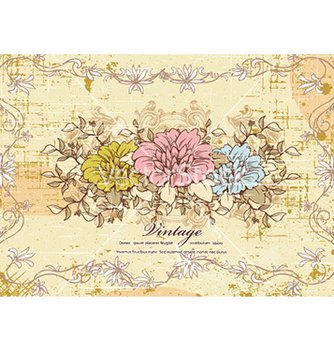 Free vintage background with floral vector - Kostenloses vector #229159