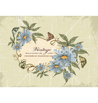 Free grunge floral frame vector - Free vector #229309