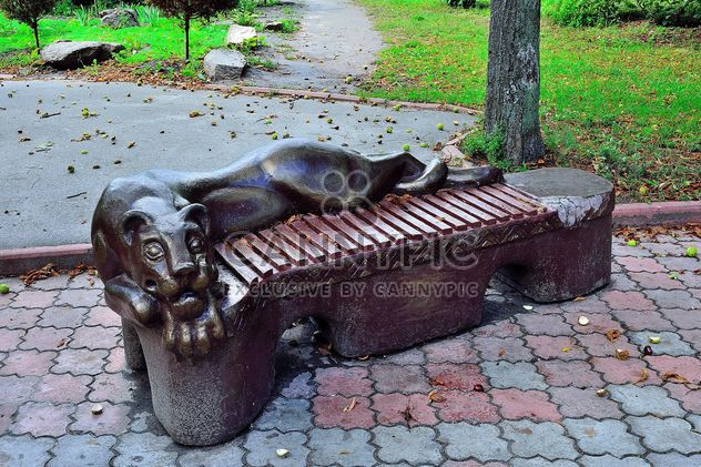 Sculptural bench - Free image #229389