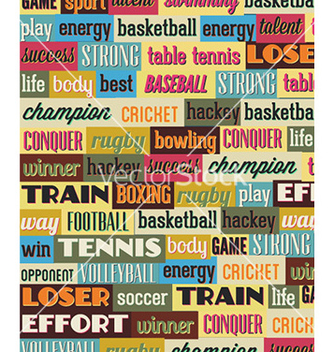 Free with sport typography vector - vector #229669 gratis