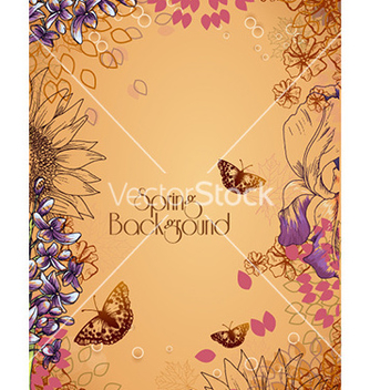 Free floral background vector - Free vector #229769
