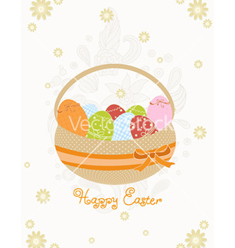 Free basket of eggs vector - vector gratuit #230419