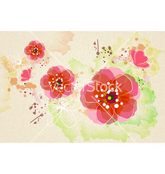 Free watercolor floral background vector - vector gratuit #230489