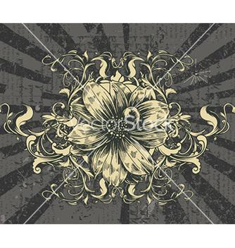 Free vintage floral frame vector - Kostenloses vector #232099