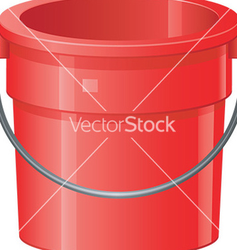 Free cartoon bucket vector - Free vector #232609