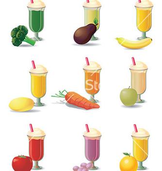 Free milkshake design vector - vector gratuit #232739