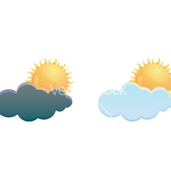 Free cloud and weather icon vector - Free vector #232769
