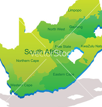 Free map of south africa vector - vector #232869 gratis