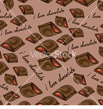 Free pattern with chocolate vector - vector gratuit #233019