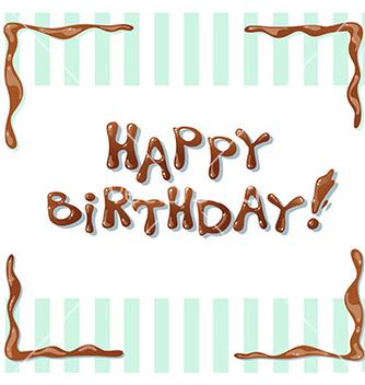 Free happy birthday card vector - vector gratuit #233079