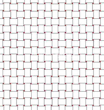 Free white wicker background with red dotted vector - vector gratuit #233149