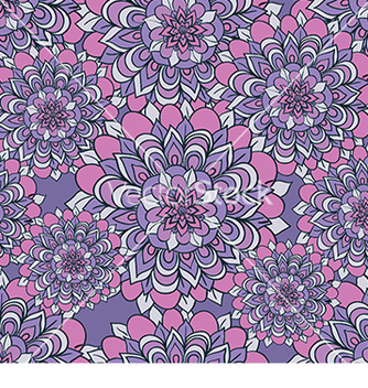 Free beautiful pattern with flowers on a purple vector - vector gratuit #233299