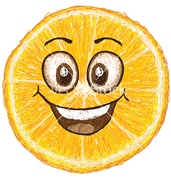 Free unique style of happy orange fruit cartoon cross vector - Free vector #233309