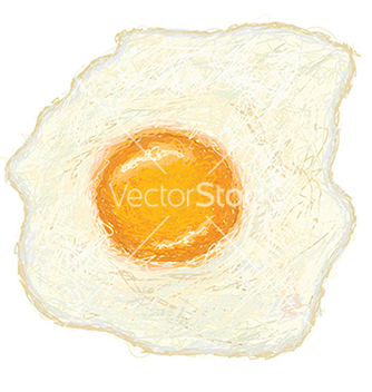 Free closeup of a freshly cooked sunny side up fried vector - vector gratuit #233319