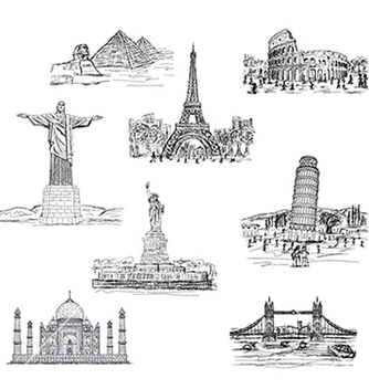 Free landmarks vector - Kostenloses vector #233379