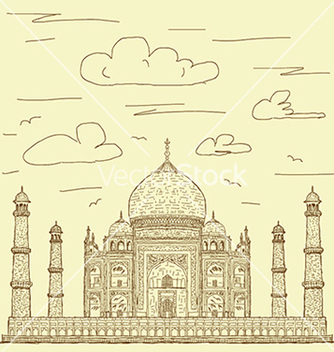 Free vintage hand drawn of famous tourist destination vector - бесплатный vector #233779