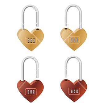 Free heart lock vector - Kostenloses vector #233909