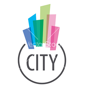 Free logo multicolored houses in town vector - Kostenloses vector #234069