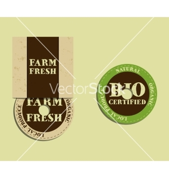 Free stylish farm fresh cd or dvd templates organic vector - vector gratuit #234139