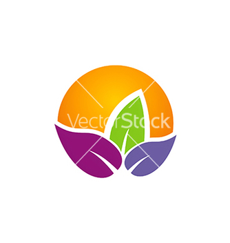 Free colorful leaf summer abstract beauty logo vector - Free vector #234249