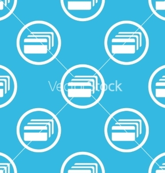 Free credit card sign blue pattern vector - Free vector #234269