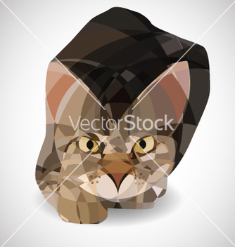 Free poligonal cat vector - Kostenloses vector #234319