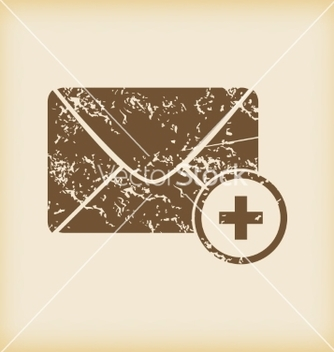 Free grungy add letter icon vector - Free vector #234549