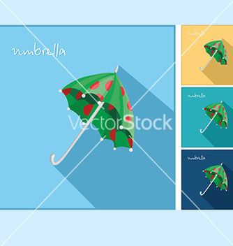 Free icons with an umbrella vector - Kostenloses vector #234569