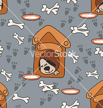 Free pattern with a dog and a bone vector - Free vector #234669