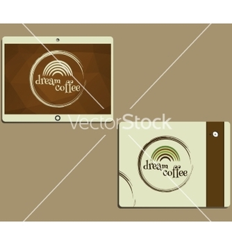 Free corporate identity template design for cafe vector - Free vector #234729