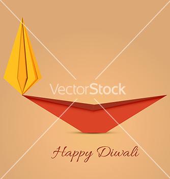 Free diwali diya origami vector - Free vector #234919