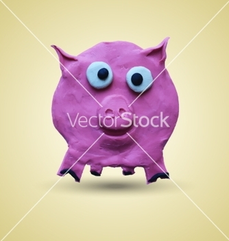 Free pink pig in front view vector - Kostenloses vector #234959
