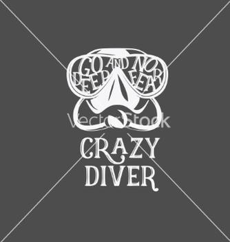 Free tshirt print crazy diver vector - бесплатный vector #235079