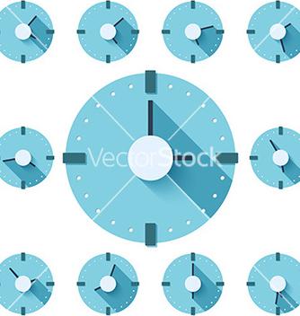 Free clock flat icon eps vector - Kostenloses vector #235139