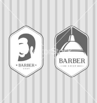 Free set of vintage barber shop logos vector - vector gratuit #235239