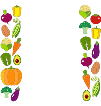 Free healthy diet flat style with fresh organic vector - Kostenloses vector #235259