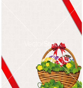 Free easter basket on a beige background vector - Free vector #235339