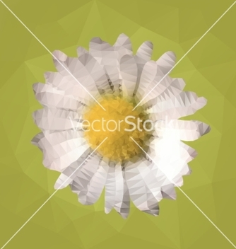Free polygonal mosaic of daisy vector - Free vector #235349