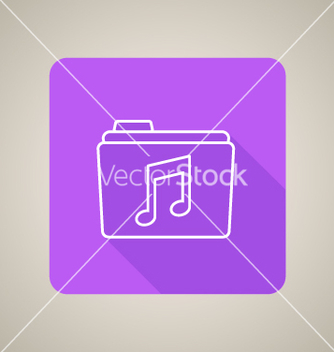 Free music folder icon vector - Free vector #235379
